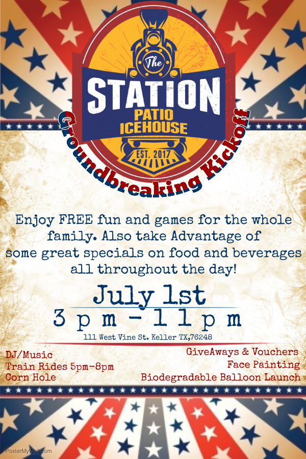 Station Kickoff Party Flier