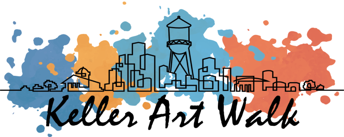 City Scape Keller Art Walk Logo