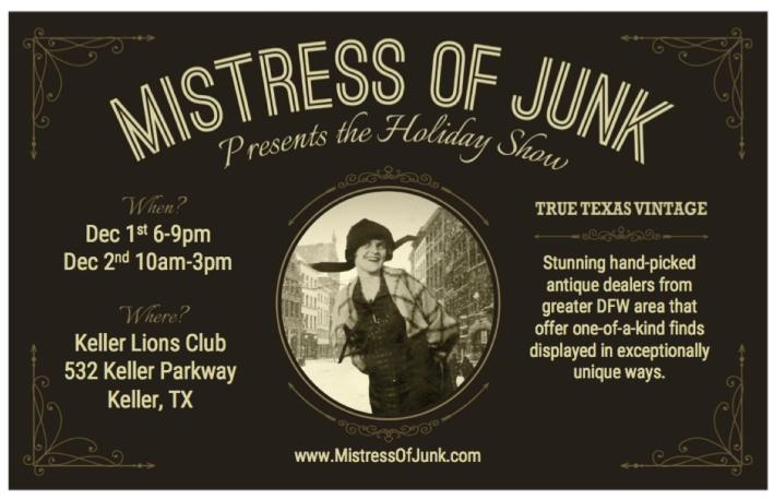 Mistress of Junk Holiday 2017 flier