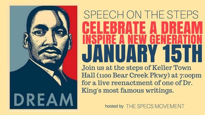 Flier for the 2017 MLK Speech on the Steps
