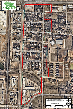 Old Town Keller Phase II aerial map