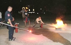Fire Extinguisher Training (night time)