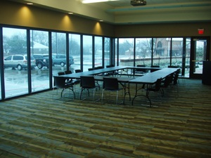interior of library meeting room