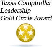 Image of the Texas Comptroller Leadership Gold Circle Award