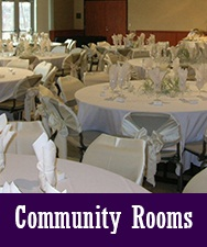 Button to Community Rooms Rentals Page