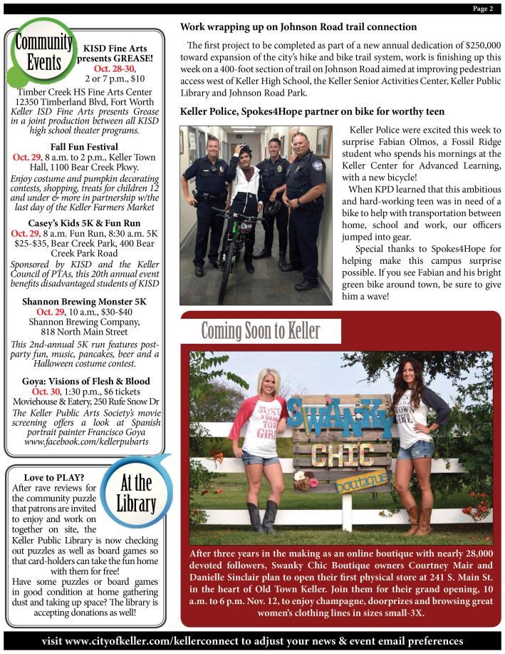 Keller News | City of Keller, TX