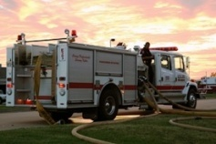 Engine 589 pumping at training