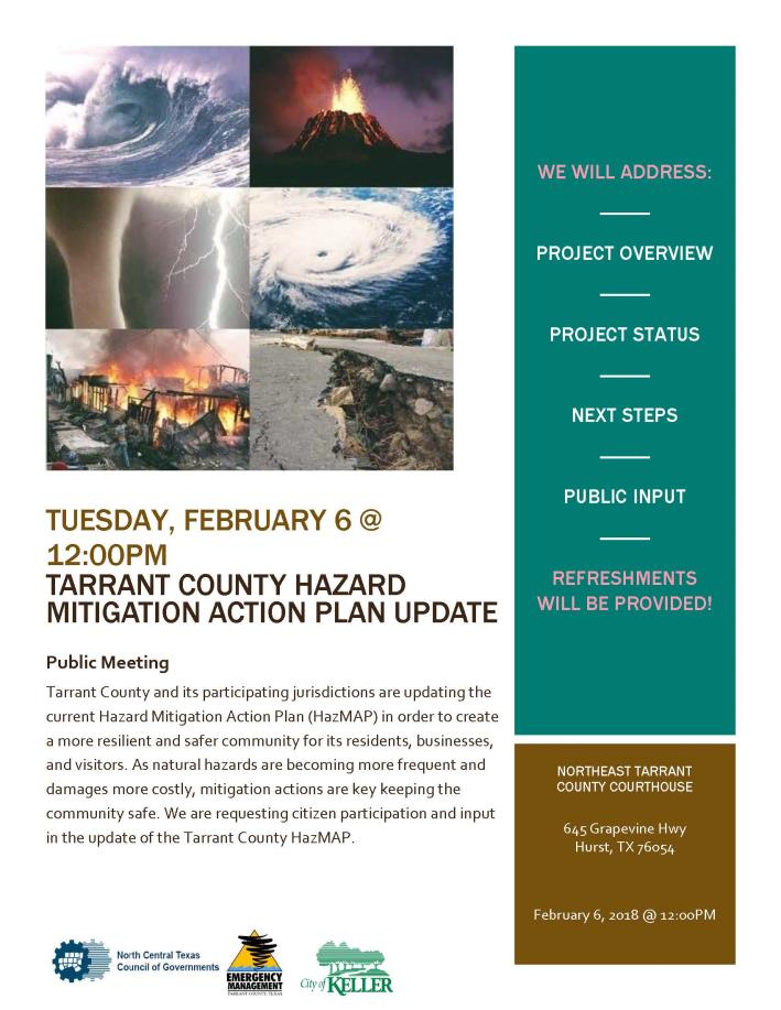 Hazard Mitigation Action Plan County Mtg Flier