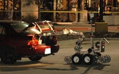 bomb robot opening trunk