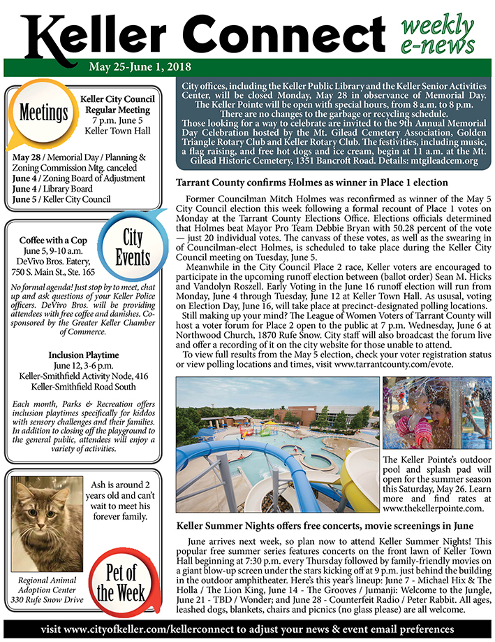 News Release   City of Keller, TX