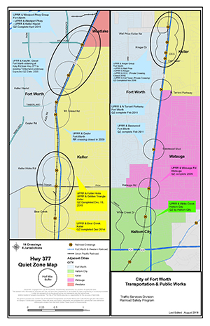 Railroad Quiet Zones - Dec 2018