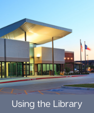 Button to access a page about using the Keller Public Library