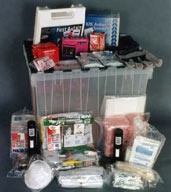 Photo of an emergency supply kit