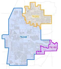 Roanoke Zip Code Map.Zip Code Realignment Proposal City Of Keller Tx