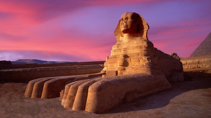 the great sphinx - sunset