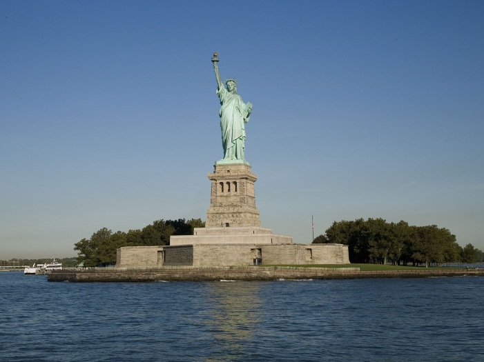statue of liberty - wide view