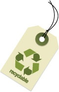 Photo of a recycling tag