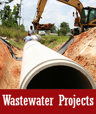 Wastewater Projects Button