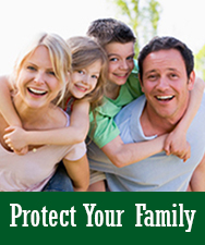 Protect Your Family Button