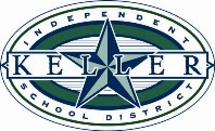 Keller ISD logo outlined oval and printed in green